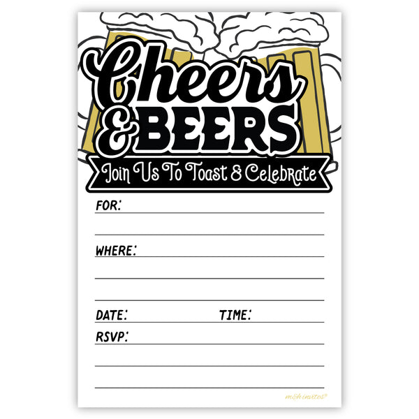 Cheers and Beers Party Invitations
