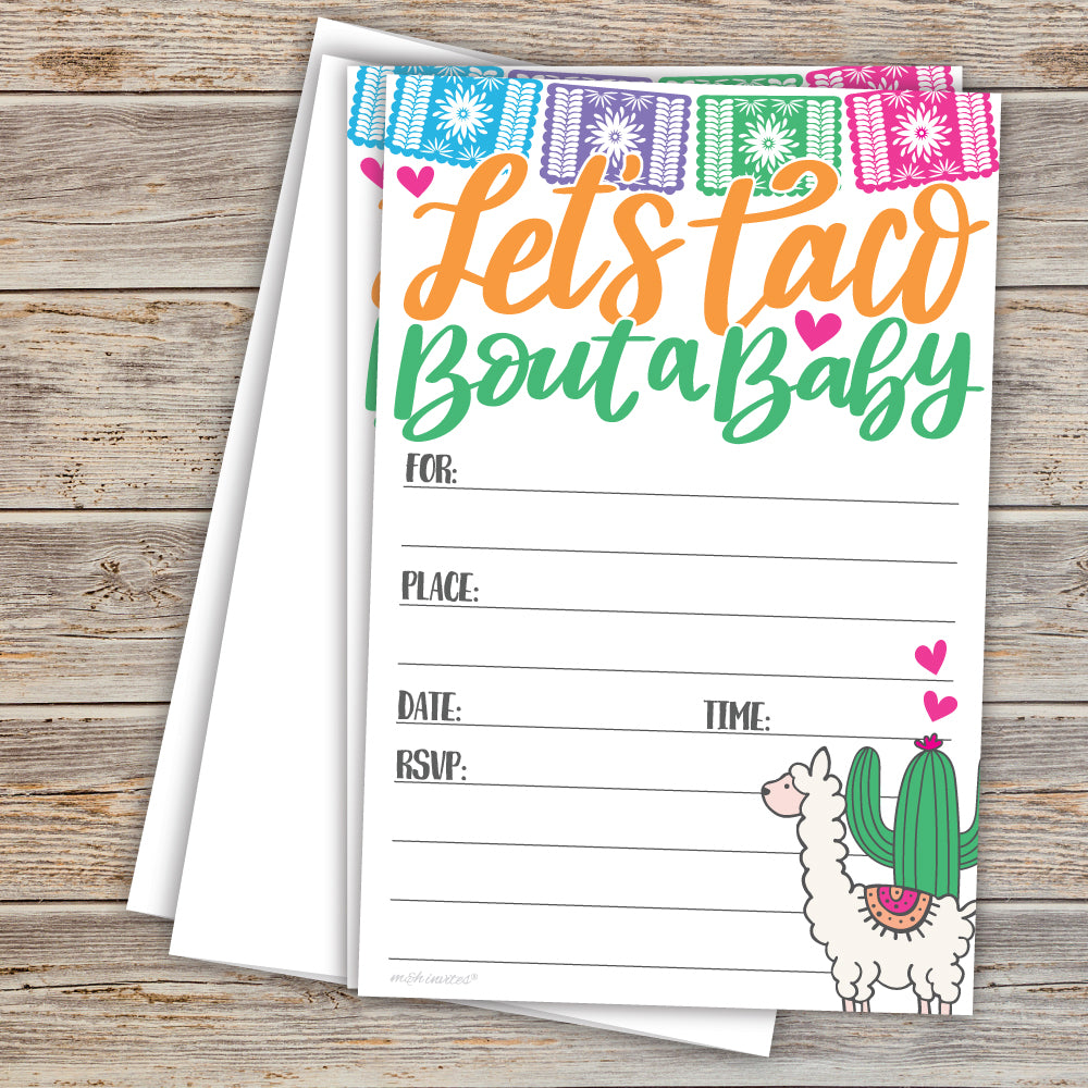 Taco Bout a Baby - Llama and Cactus Baby Shower
