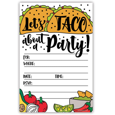 Fiesta Taco Party Invitations