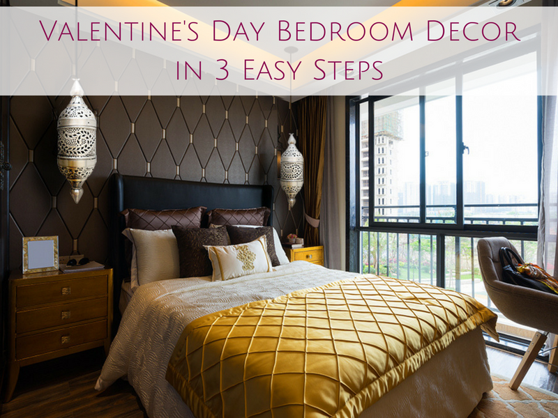Valentine's Day Bedroom Decor in 3 Easy Steps