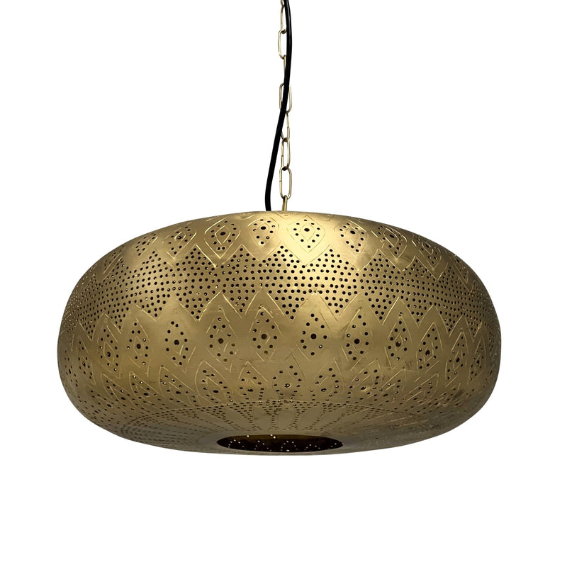 Lotus Moroccan Pendant - Brass, Moroccan lighting, Little Light Bazaar