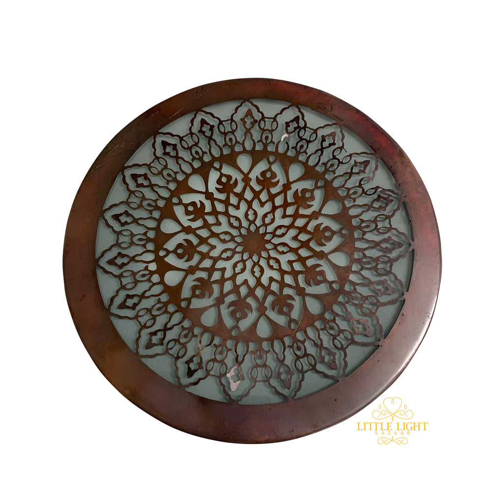 Duniya Ceiling Flush Mount, Moroccan lighting, Little Light Bazaar