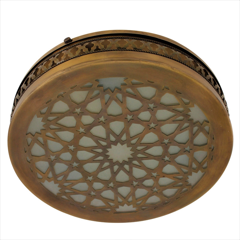 Sitara Ceiling Flush Mount, Moroccan lighting, Little Light Bazaar