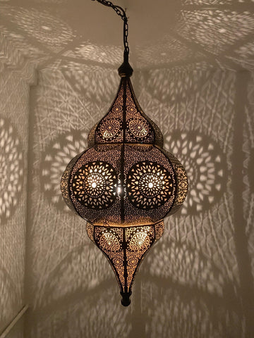Summer Moroccan Hanging Lantern - Red