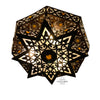 Shireen Globe - Brass - Cross Pattern - 12""