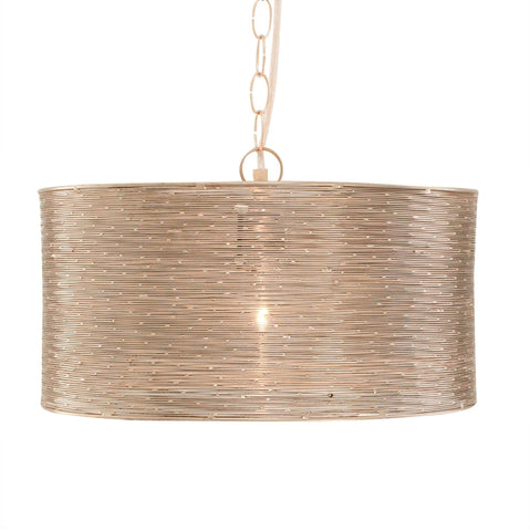 Shireen Etched Moroccan Pendant - Brass