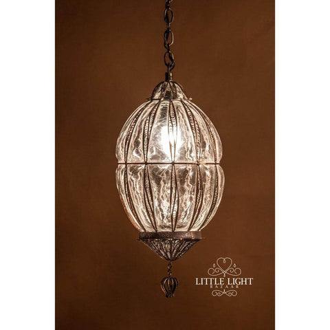 Haifa Moroccan Pendant - Antique Red/Copper