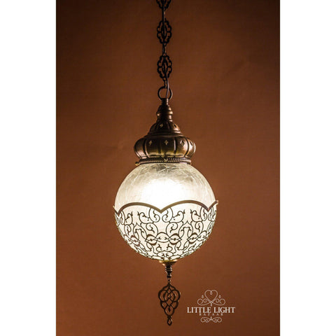 Shireen Moroccan Globe - Large - Brass
