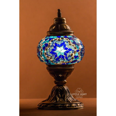 Set of 4 Mosaic Votive Candle Holders - Blue Symphony Collection