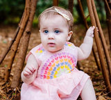Rainbow Sweetheart Baby Dress