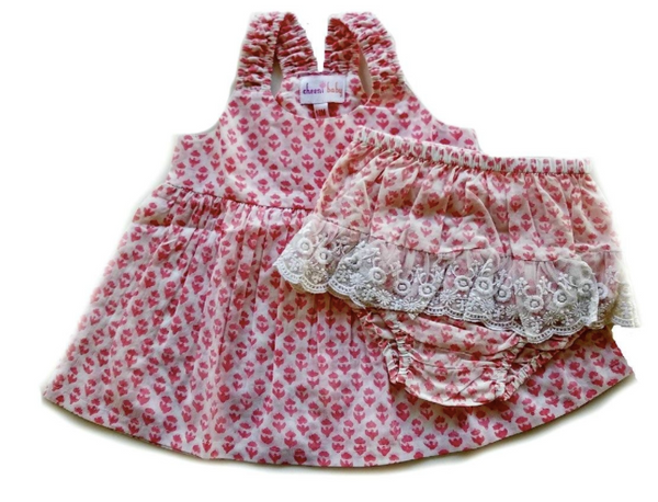 Lacey Baby dress w/ bloomer