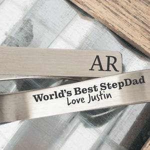 World's Best Stepdad Tie Clip