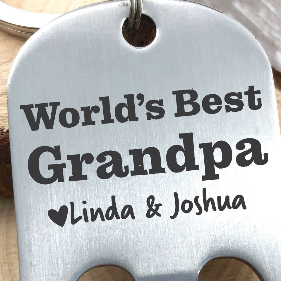 World's Best Grandpa Bottle Opener Keychain