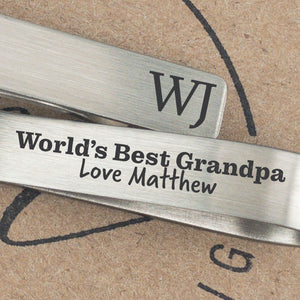 World's Best Grandpa Tie Clip