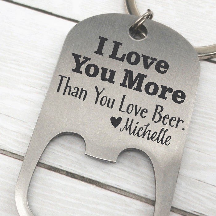 More Than Beer Bottle Opener Keychain
