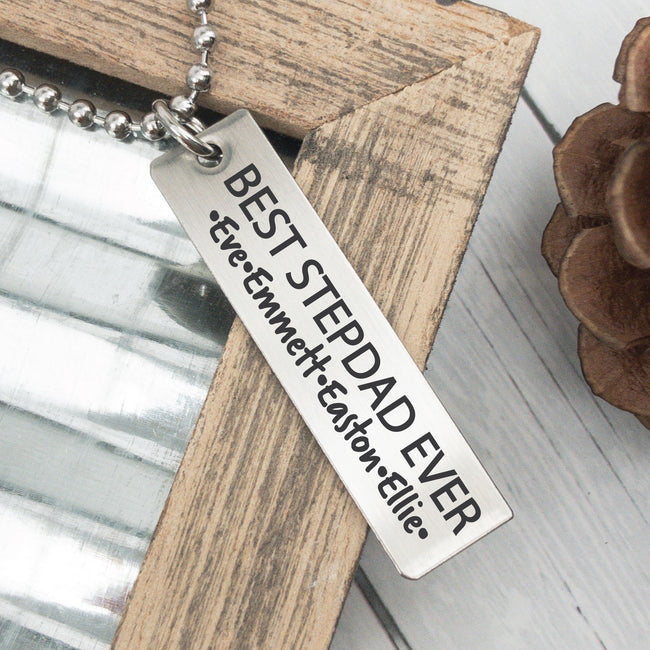 Men's Best Stepdad Ever Necklace