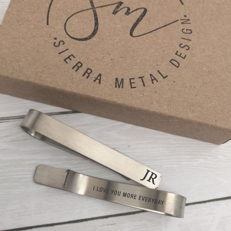 I Love You More Everyday Tie Clip