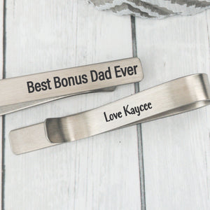 Best Bonus Dad Ever Tie Clip