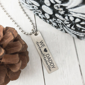 Men's We Heart Daddy Necklace