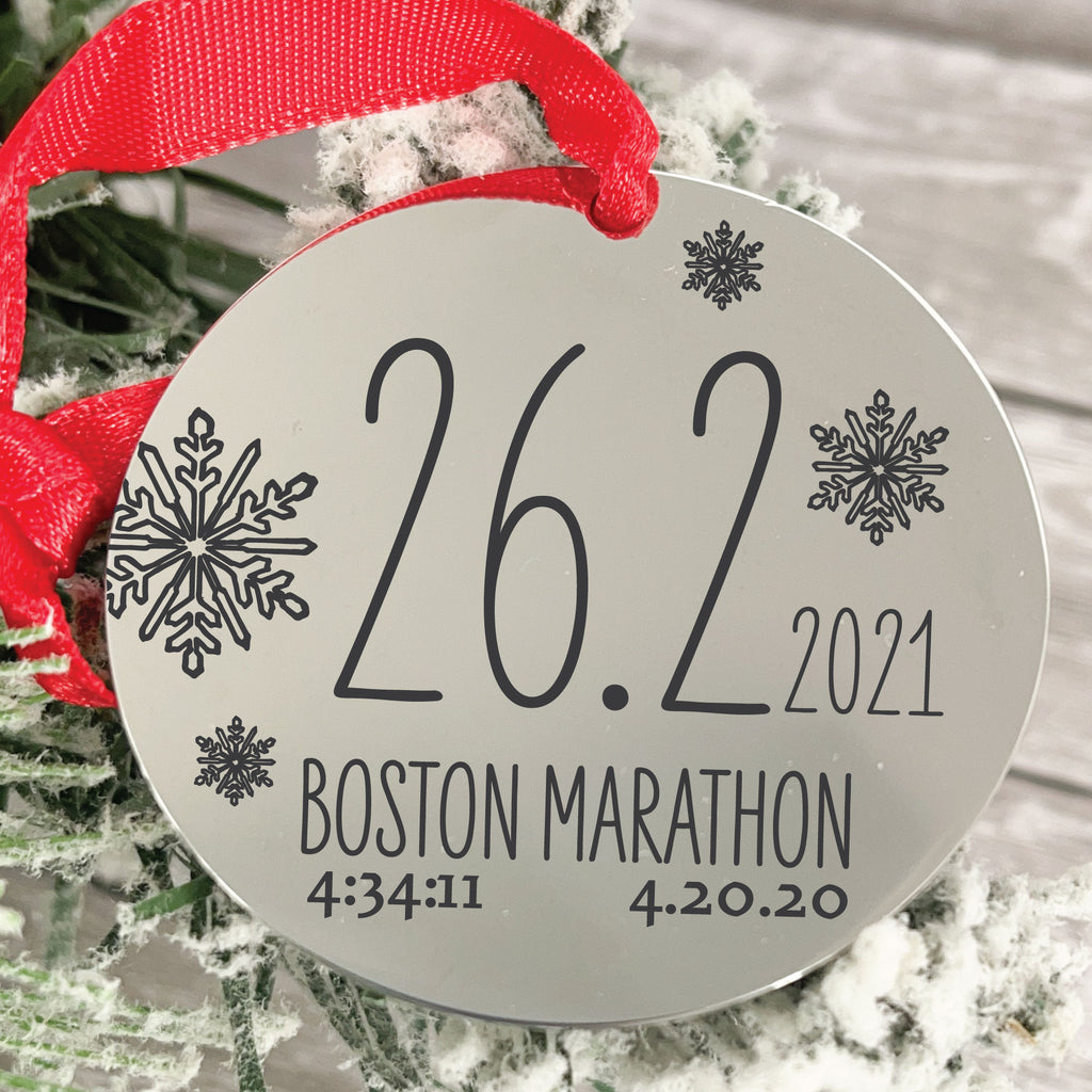 Marathon 2018 Disc Ornament - Sierra Metal Design Personalized Gifts & Jewelry