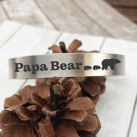 Papa Bear Pint Glass - Sierra Metal Design Personalized Gifts & Jewelry