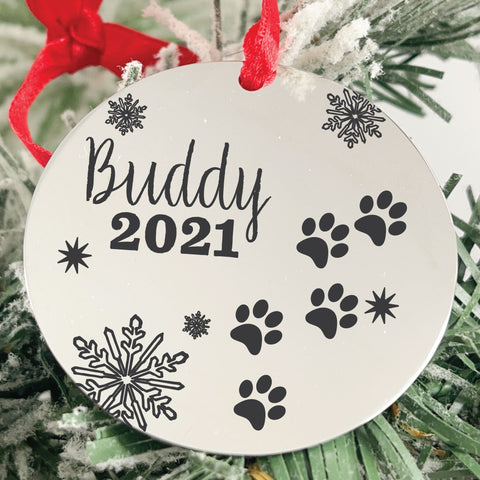 Pet Disc Ornament - Sierra Metal Design Personalized Gifts & Jewelry