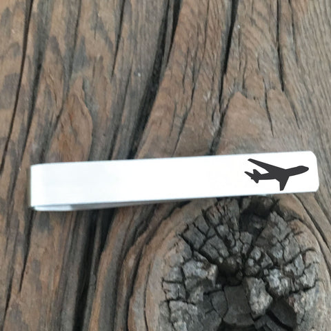 Commercial Airplane Tie Clip - Sierra Metal Design Personalized Gifts & Jewelry