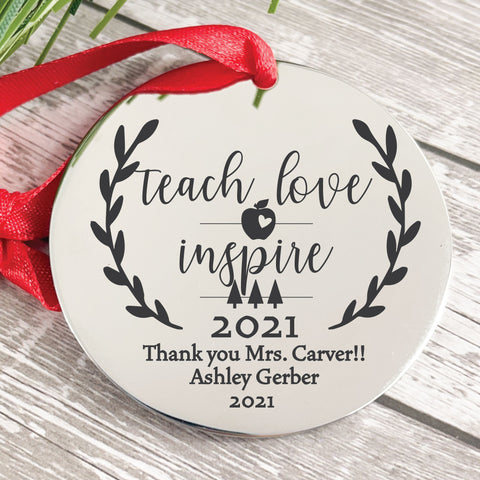 Teach Love Inspire 2019 Disc Ornament