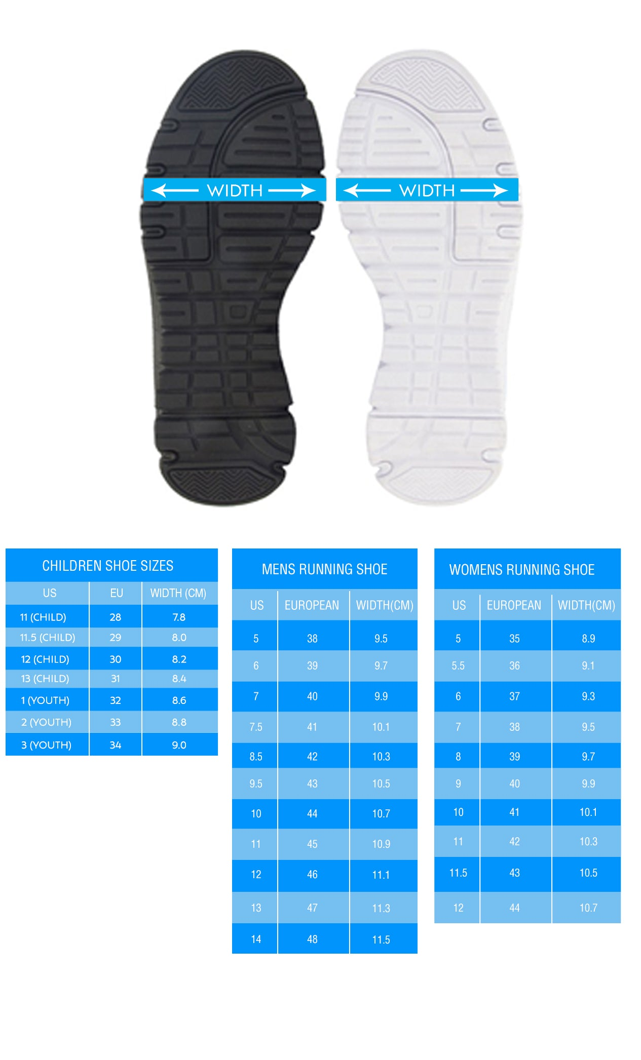 sneakers size guide