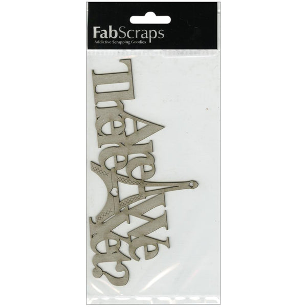 Die-Cut Gray Chipboard Word