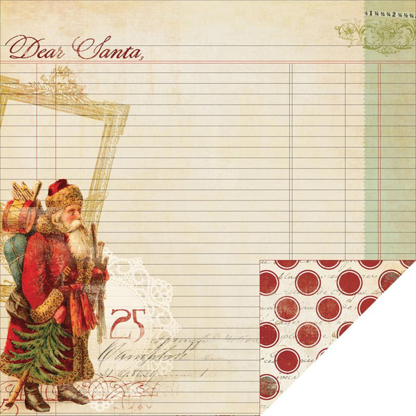 My Mind's Eye - Joyous Christmas Paper - Dear Santa