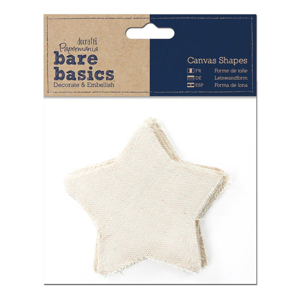 Papermania Bare Basics Canvas Shapes 6/Pkg