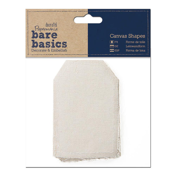Papermania Bare Basics Canvas Shapes Tag