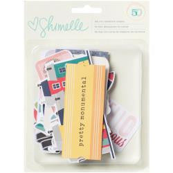 American Crafts-Shimelle True Stories Cardstock Die Cuts: Ephemera Shapes & Icons