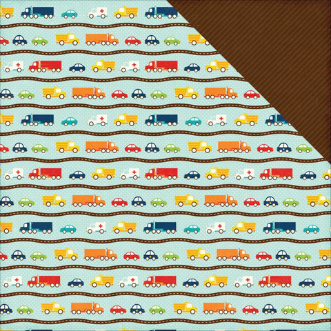 Echo Park - Little Man - Cars Paper