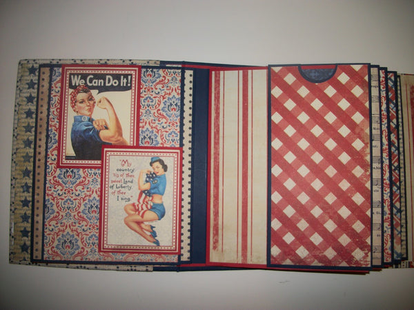 Freedom and Honor mini album kit- Chandra Carpenter