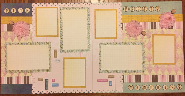 Pretty Memories double page Layout kit - Becky Ayers
