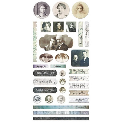 7 Dots Studio Paper Collection - Cold Country  - 6x12 Elements Stickers