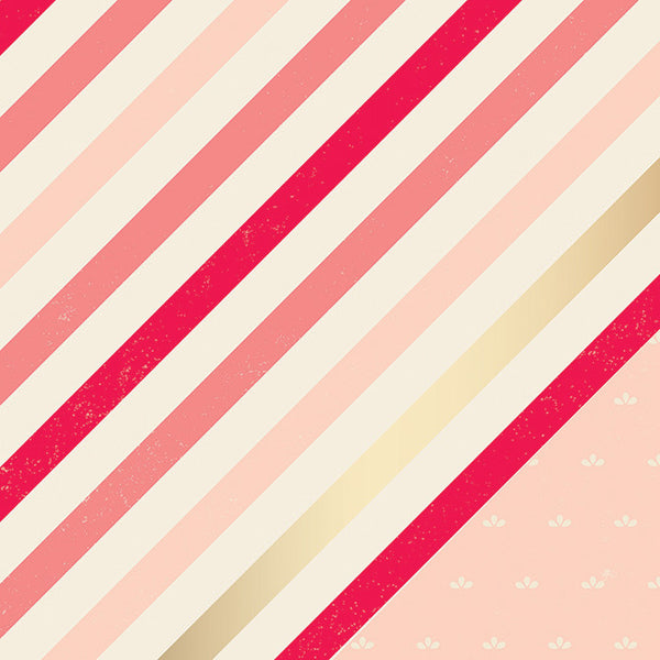 American Crafts-Shimelle Striped paper