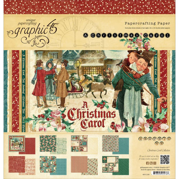 Graphic45  Christmas Carol Paper Pad