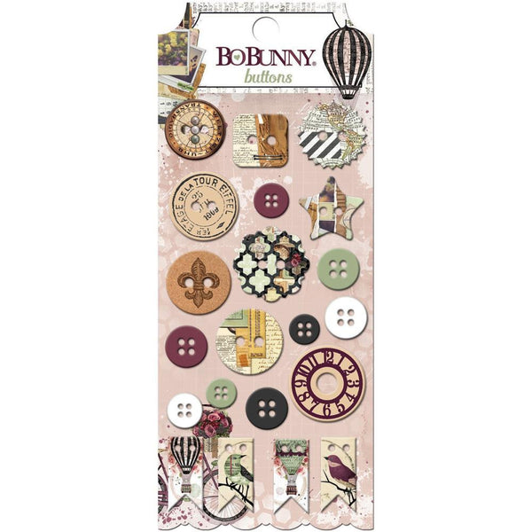 Bo Bunny Press - Beautiful Dreamer - Buttons