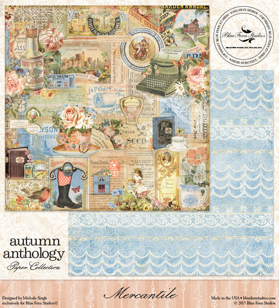 Blue Fern Studios Paper Collection - Autumn Anthology -  Mercantile