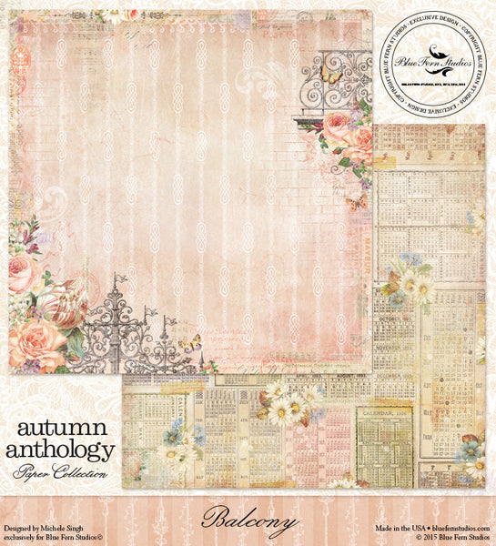 Blue Fern Studios Paper - Autumn Anthology -  Balcony