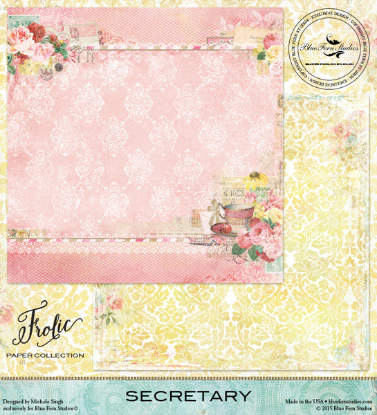 Blue Fern Studios Paper Collection - Frolic -  Secretary