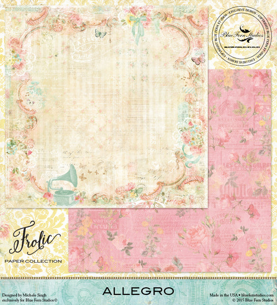 Blue Fern Studios Paper Collection - Frolic -  Allegro