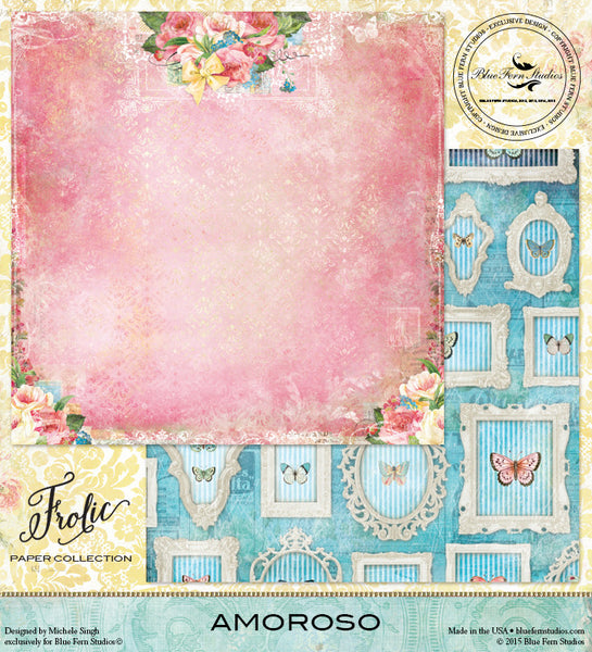 Blue Fern Studios Paper Collection - Frolic -  Amoroso