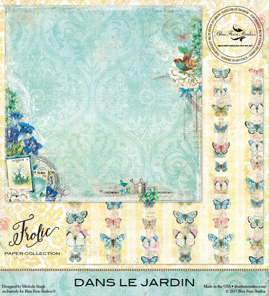 Blue Fern Studios Paper Collection - Frolic -  Dans Le Jardin