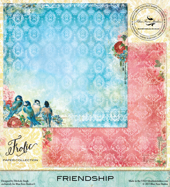 Blue Fern Studios Paper Collection - Frolic -  Friendship
