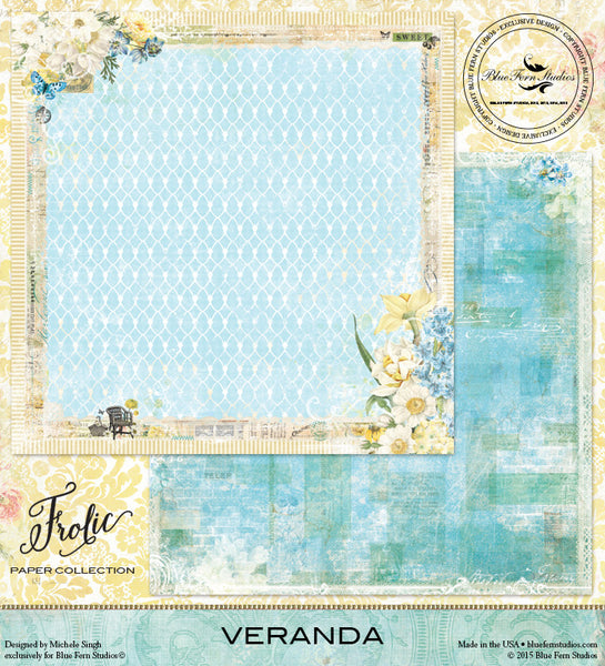 Blue Fern Studios Paper Collection - Frolic -  Veranda