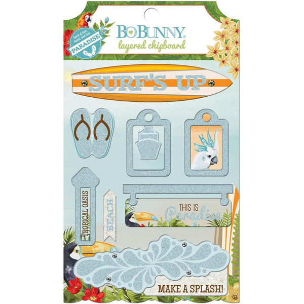 Bo Bunny Press - Beach Therapy - Layered Chipboard
